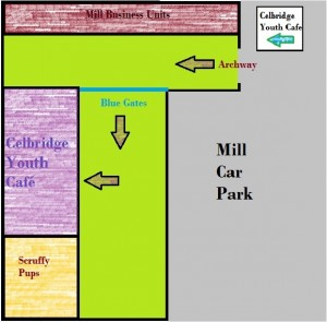 Youth Cafe Entrance Map