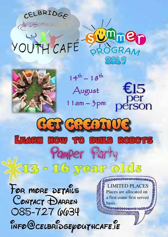 Youth Cafe Summer Camp Flyer
